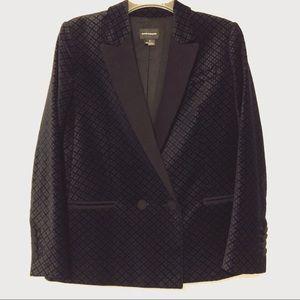 Club Monaco Velvet Printed Blazer Size 4